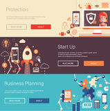 Set of modern flat design business banners Royalty Free Stock Photo