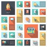 Set of modern flat design business infographics Royalty Free Stock Images