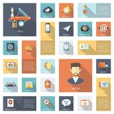 Set of modern flat design business infographics Stock Photo