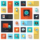 Set of modern flat design business infographics Royalty Free Stock Photos