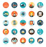 Set of modern flat design business infographics Stock Images