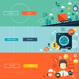 Set of modern flat design business infographics Stock Image