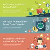 Set of modern flat design business infographics Royalty Free Stock Photography