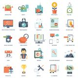 Set of modern flat design business vector info graphics icons. Business, management, finances, technology icon set Royalty Free Stock Photography