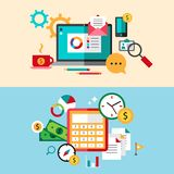 Set of modern flat design business vector Royalty Free Stock Photos