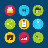 Set of modern flat design concept icons Royalty Free Stock Photo