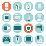 Set  modern flat design icons of home appliances Royalty Free Stock Photo