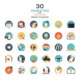 Set of modern flat design Marketing and Design icons Stock Photo