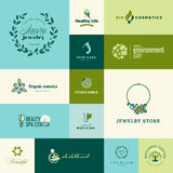 Set of modern flat design nature and beauty icons Royalty Free Stock Image