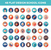 Set of modern flat design school, college icons Stock Image