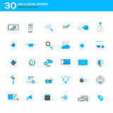 Set of modern flat design SEO and development icons Stock Photography