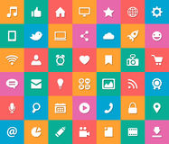 Set of modern flat design social media icons Stock Photography