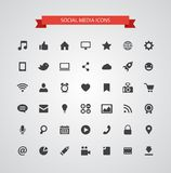Set of modern flat design social media icons Stock Image