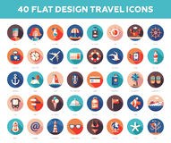 Set of modern flat design travel, vacation Stock Photo