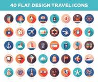Set of modern flat design travel, vacation Stock Photo