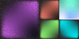 Set of Modern Flat Halftone Backgrounds, illustration cian color. Set of Modern Flat Halftone Backgrounds, illustration cian brown green color stock illustration