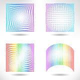 Set of Modern Flat Halftone Backgrounds Stock Images
