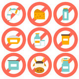 Set of modern flat icons with products containing Stock Photos