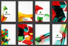 Set of modern flyers, brochures Stock Image