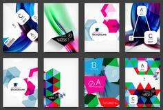 Set of modern flyers, brochures Stock Photography