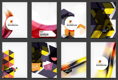 Set of modern flyers, brochures Royalty Free Stock Images