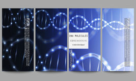 Set of modern flyers. DNA molecule structure on Royalty Free Stock Image