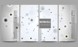 Set of modern flyers. Molecular research, cells  Royalty Free Stock Image