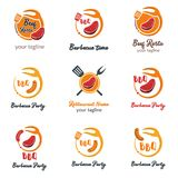 Set of Modern Food Logo Template Vector Illustration. Creative F. Ood and Cooking Logo Vector vector illustration