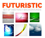 Set of modern futuristic abstract background Royalty Free Stock Photo