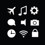 Set of modern gadget icons Stock Image