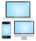 Set of modern gadgets Stock Photos