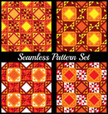Set of 4 modern geometric seamless patterns vector illustration