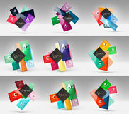 Set of modern geometrical concepts, design elements Royalty Free Stock Photo