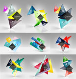 Set of modern geometrical concepts, design elements Stock Image