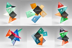 Set of modern geometrical concepts, design elements Stock Photo