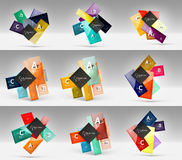 Set of modern geometrical concepts, design elements Royalty Free Stock Photos