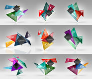 Set of modern geometrical concepts, design elements Stock Photos