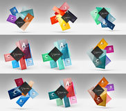 Set of modern geometrical concepts, design elements Royalty Free Stock Images