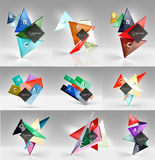 Set of modern geometrical concepts, design elements Royalty Free Stock Image