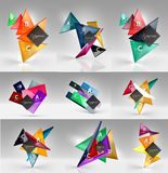 Set of modern geometrical concepts, design elements Royalty Free Stock Photography