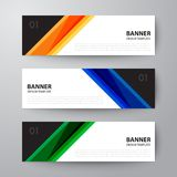 Set of banners web template abstract  background. Set of Modern geometrics banners web design template abstract  background elements, Business presentation Stock Photos