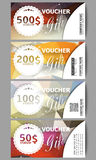 Set of modern gift voucher templates. Colorful Stock Image