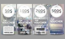 Set of modern gift voucher templates. DNA molecule Royalty Free Stock Photo