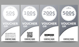 Set of modern gift voucher templates. Dotted Stock Photos