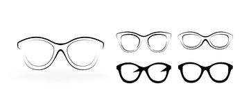 Set of modern glasses Stock Images