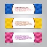 Set Of Modern Global Business Design Banner Template. royalty free illustration