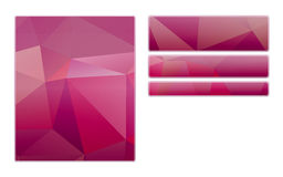 Blank purple polygon style buttons Royalty Free Stock Photo