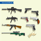 Set of Modern gun vector Stock Image