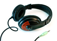 Set of modern headphones Royalty Free Stock Photo