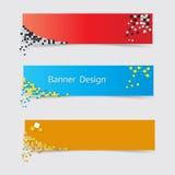 Set of modern horizontal vector banners royalty free illustration